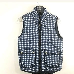 Andrea Jovine Womens Navy Blue White Quilted Small